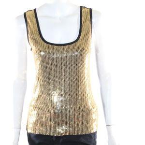 Bisou Bisou Small Gold Sequin Tank